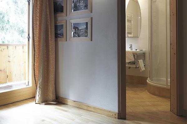 bagno camera con balcone hotel villamadonna
