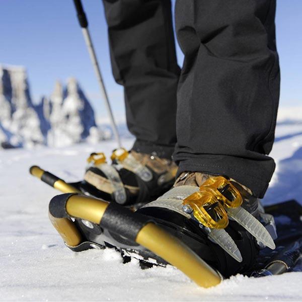 racchette speciali per camminare sulla neve