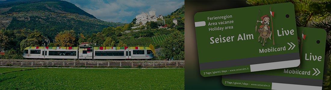 Tessera mobilcard area vacanze SEISER ALM LIVE