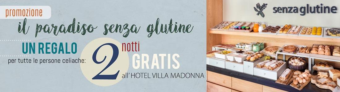 Cartolina promozione paradiso senza glutine hotel villamadonna