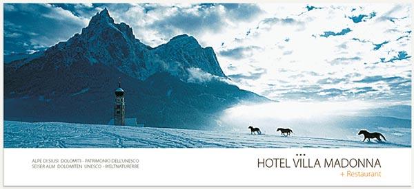 panorama Alpe di Siusi dolomiti inverno cavalli