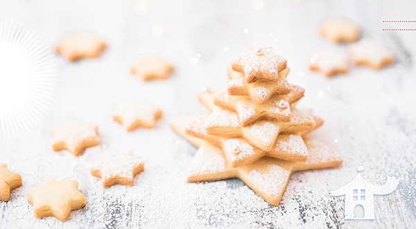 Biscotti natalizi a forma di stella